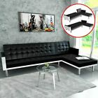 Luxury Leather Sofa Bed 3 Seater Couch Recliner Home Living Room Furniture Set