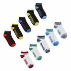 Street Essentials Boys Girls 10 Pairs Days Of The Week Cotton Rich Trainer Socks