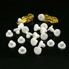 4 PIECES Rubber Clip On Earring Super Soft Cushion Pads White .20x.25""