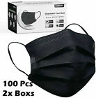 Внешний вид - 50/100 PCS Black Face Mask Mouth & Nose Protector Respirator Masks USA Seller