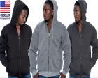 Men's Comfort Athletic Warm Soft Fleece Zip Up Sweater Jacket Hoodie Brand New