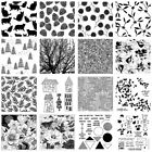 Floral Clear Stamp Polymer Clay Texture Sheets Clay Embossing Pottery Tool DIY