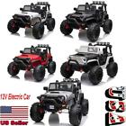 12V Kids Electric Police Car Ride On Car SUV Truck Toys with Remote Control USA