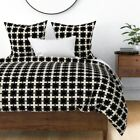 Hollywood Regency Glamour Style Decor Stripes Sateen Duvet Cover by Roostery