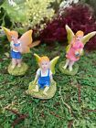 Dollhouse FAIRY GARDEN Accessories Whimsical Fairies Playing Flute Micro Sister