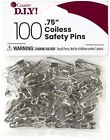 Coiless Safety Pins-Nickel