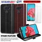 For LG K51/Reflect/Q51 Flip Leather Wallet Card Stand Case Cover/Tempered Glass