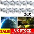10x LED Stainless Steel Brick Light Outdoor Garden Recessed Step Wall Lights UK