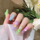 3D Nail Art Flat Back Decor with AB Side Rhinestones Fluorescent Nails Supplies