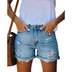 Women Summer Ripped Denim Shorts Casual Beach Distressed Jeans Shorts Hot Pants