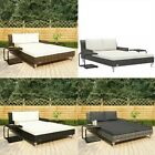 Garden  Table Sun Bed With Cushions Patio Pool Lounge Chair Rattan Furniture Set