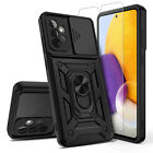 For Samsung Galaxy A72 5G Slide Camera Protection TPU Stand Case /Tempered Glass