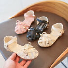 Kid Girls Close Toe Strappy Summer Sandal Baby Causal Beach Outdoor Walk Shoes