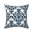 Retro Antique Persian Scrolls Throw Pillow Cover w Optional Insert by Roostery