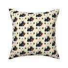 Vintage Retro 1950 Kitsch Throw Pillow Cover w Optional Insert by Roostery