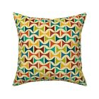 Circus Carnival Retro Throw Pillow Cover w Optional Insert by Roostery
