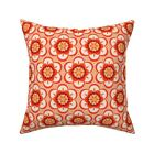 Modern Bohemian Boho Retro Throw Pillow Cover w Optional Insert by Roostery