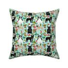 Frenchie French Bulldog Dog Throw Pillow Cover w Optional Insert by Roostery