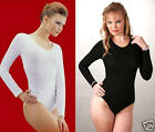 2 LONG SLEEVE ROUNDNECK BLK&WHT SUPERB QUALITY BODYSUIT