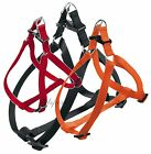 FERPLAST EASY ADJUSTABLE DOG HARNESS All Sizes blck&red