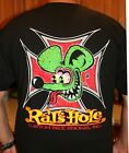 Rat's Hole USA Surfer Cross Black World Famous BDR Logo