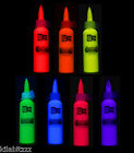 60ml Fluorescent UV Blacklight Fabric Paint - 7 colours