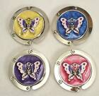 #5549 - WESTERN COWGIRL SILVERTONE BUTTERFLY PURSE HOOK FOLDING HANGER -WOW!