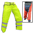 Adjustable wrap around chainsaw chaps Red or Green