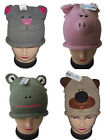 Boys Girls Kids Knitted Animal Hat, Dog Pig Frog, NEW