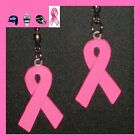 BREAST CANCER SUPPORT PINK RIBBON CEILING FAN PULLS - TWO (2) RIBBONS FOR A SET