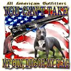 "Dixie Rebel Dog ""YOU CAN'T TAKE MY GUN, DOG OR MY FLAG"" 50/50 Gildan/Jerzees T"