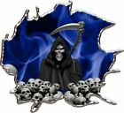 Vinyl graphic decal grim reaper skulls race car go kart