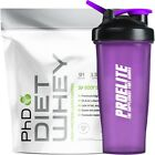 PhD Nutrition Diet Whey Protein 1kg / 1000g / 2.2lbs - All Flavour + Free Shaker