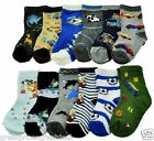 6 12 Pairs Boys Design Novelty Cartoon Crew Socks #357 Multi-Color Swan S M L XL