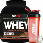 Pure Whey Protein Isolate 100% whey 5lb + Pro Elite Shaker