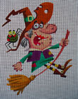 "Needlepoint canvas ""Funny Halloween Witch"""