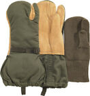 US Military G.I. Issue Leather Trigger Finger Hunting Mittens