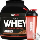 100% Pure Whey Protein Isolate Concentrate 5lb + Shaker