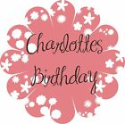 Personalised Party Stickers Birthday Name Flower