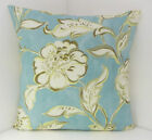 COUNTRY STYLE CUSHION COVERS SINGLE DUCK EGG CREAM FLORAL CHIC FLOWERED