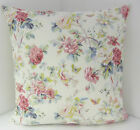 VINTAGE CHIC FLORAL DUSKY PINK BLUE CUSHION COVERS