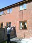 13FT WATER FED WINDOW CLEANING POLE TELESCOPIC EXTENSION CONSERVATORY  BRUSH KIT