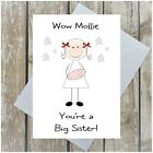 PERSONALISED BIG SISTER CONGRATULATIONS CARD NEW BIG SISTER HOLDING NEW BABY