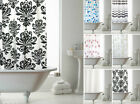 NEW Bathroom Hookless Shower Curtains 180 x 184 cm Various Designs Stripe Floral