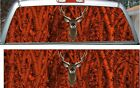 Forest inferno camouflage deer buck hunting rear window view thru graphic