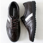 Mens Casual Lace up Fashion Sneakers Brown