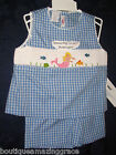NEW VIVE LA FETE Silly Goose Girls Smocked Shorts Set 2T MERMAID Under Sea Ariel