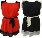 LADIES GORGEOUS PLUS SIZE MINI GOING OUT DRESS WOMENS 2 COLORED DRESS 16-26 NEW