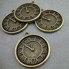 10 Antique Gold Bronze Plated Watch Clock Charms Kitsch Alice Steampunk DIY