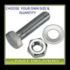 M4 S/Steel A2 Set Screws Nuts & Washer Set FREE P&P